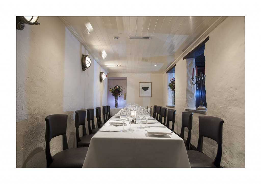 Group dining for business lunch or dinner